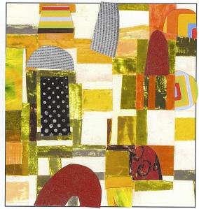 Nancy Egol Nikkal, collage on a card 1, 6x4, 2013