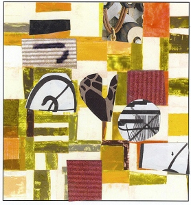 Nancy Egol Nikkal, card with collage 2, 4x5, 2013