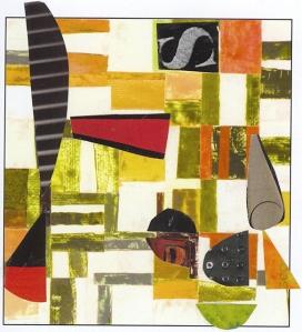 Nancy Egol Nikkal, collage on a card 3, 4x6, 2013