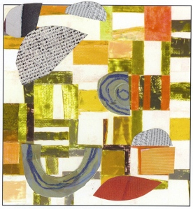 "Nancy Egol Nikkal, collage on card 4, 4""x6"", 2013"