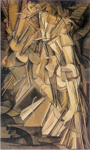 Duchamp, Nude Descending a Staircase