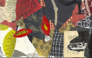 Nikkal, crazy quilt collage