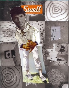 Nikkal, a swell guy, paper collage
