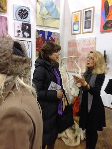 Nancy Nikkal and curator Marion Callis