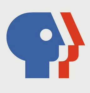 PBS Brand logo designed in 1983 by Chermayeff & Geismar, Inc.