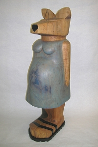 Dodson, Pregnant Kangaroo, wood, paint (2006)