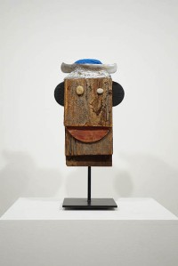 Ivan Chermayeff, Portrait with Pincushion Cap, mixed media assemblage