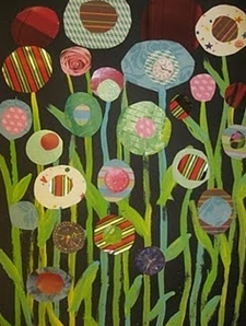 abstract Pinterest flowers in a landscape